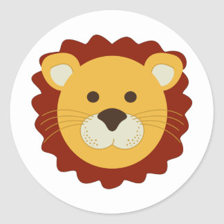 Lion espiègle sticker rond
