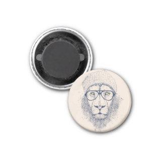 Lion frais magnet carré 2,50 cm