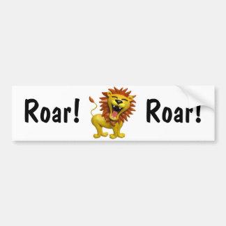 Lion hurlant autocollant pour voiture