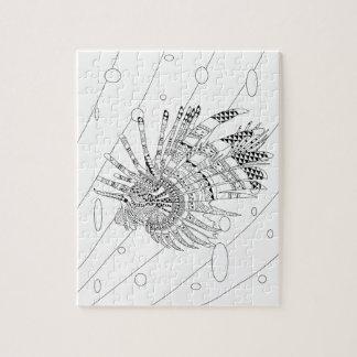 Lionfish-erwachsenes Farbton-Puzzlespiel