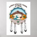 """Lipan Apache Stamm von Texas 24"""" x 33,6"""" Plakat"""