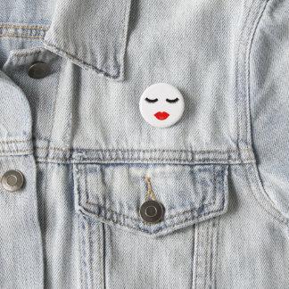 Lippen und Peitschen Runder Button 3,2 Cm