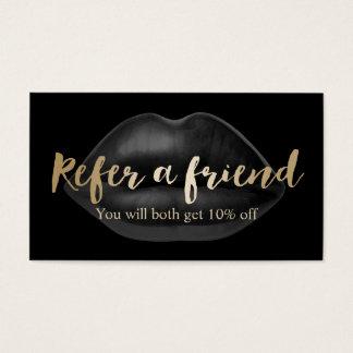 Lippenschönheits-Salon der Empfehlungs-Karten-  Visitenkarten