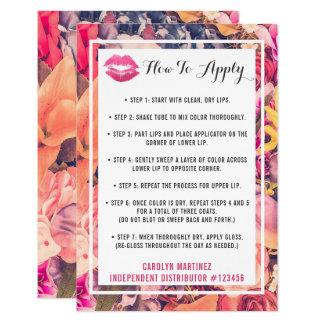 Lippenstift-Verteiler, wie man Anwendungs-Kuss 8,9 X 12,7 Cm Einladungskarte