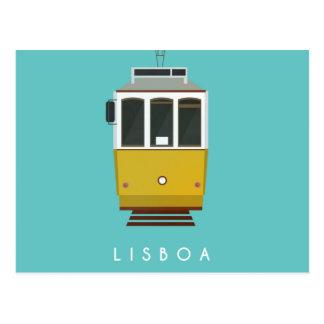 Lisbon Postcard Tram Postkarte