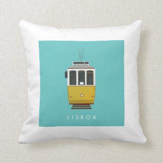 Lisbon Tram Pillow Kissen