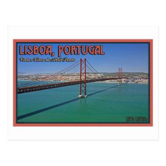 Lissabon - 25. von April-Brücke Postkarte