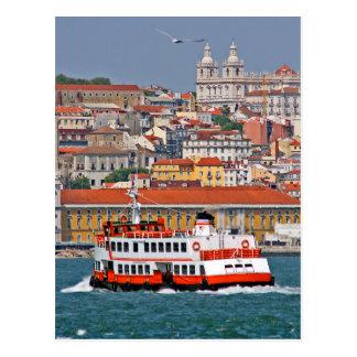 Lissabon-Ansicht vom Tajo Postkarte