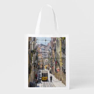Lissabon-Straßenansichttasche Wiederverwendbare Einkaufstasche