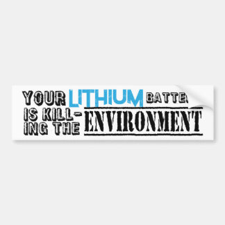 Lithium-Batterie-Umwelt Autoaufkleber