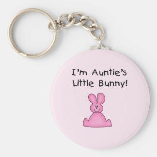 Little Bunny T-shirts und Geschenke rosa Tante Standard Runder Schlüsselanhänger