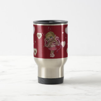 Little Sweetie -Cup-white-red-rose Reisebecher