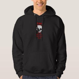 Live fast - die last - skull&cross hoodie