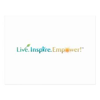 Live. Inspirieren Sie. Bevollmächtigen Sie! Postkarte