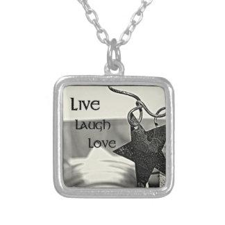Live, Lachen, Inspirational Halskette der Liebe