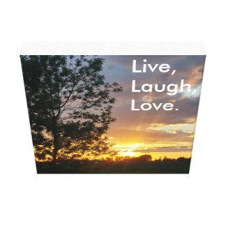Live, Lachen, Liebe-Leinwand Gespannter Galeriedruck