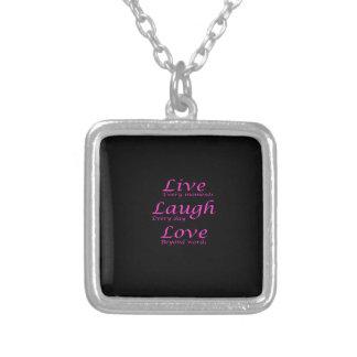 Live, Lachen, Liebe Versilberte Kette