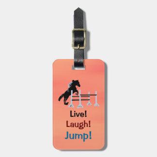 Live! Lachen! Sprung! Reiterpferd Gepäckanhänger