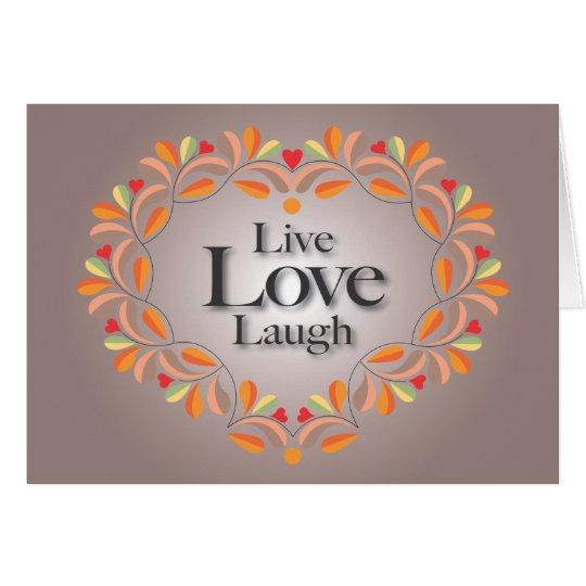 Live, Liebe, Lachenanmerkungskarte Mitteilungskarte