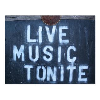 Live-Musik Tonite Postkarte