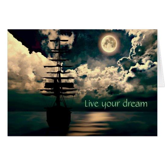 Live your dream Grusskarte Karte