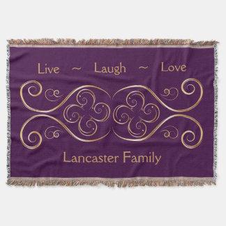 Livelachen-Liebe-Familiekundenspezifische Decke