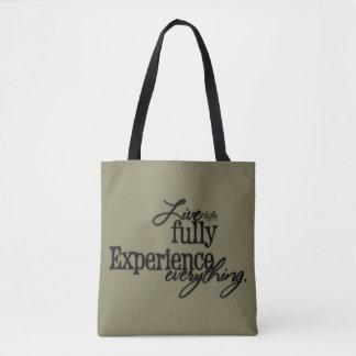 Liveleben-völlig Erfahrungs-alles/Typografie Tasche