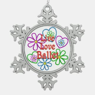 LiveLiebe-Ballett Schneeflocken Zinn-Ornament
