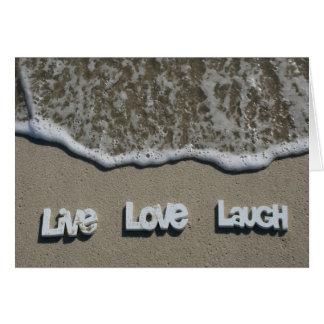 LiveLiebe-Lachen auf der Strand-Karte Karte