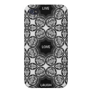LiveLiebe-Lachen-Diamant-Juwel-Druck iPhone 4 Fall iPhone 4 Etui