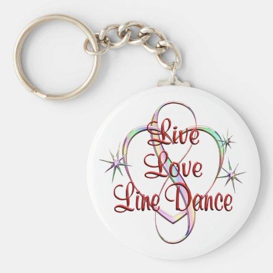 LiveLiebe-Linie Tanz Standard Runder Schlüsselanhänger