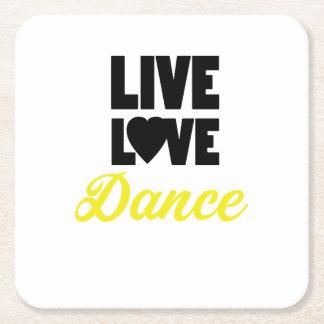LiveLiebe-Tanz-Tanzen-Tänzer-Geschenk Rechteckiger Pappuntersetzer