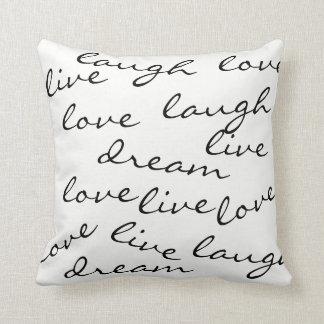 LiveLiebelachentraum-Typografiekissen Kissen