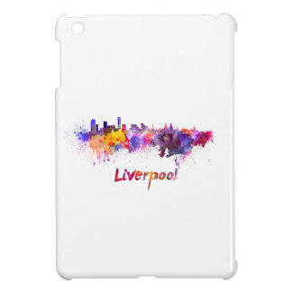 Liverpool skyline im Watercolor iPad Mini Hülle