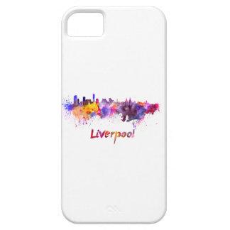 Liverpool skyline im Watercolor Schutzhülle Fürs iPhone 5