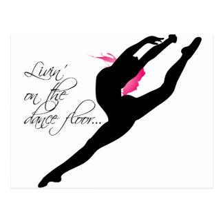 Livin auf dem rosa Tänzer Dance Floors Postkarte