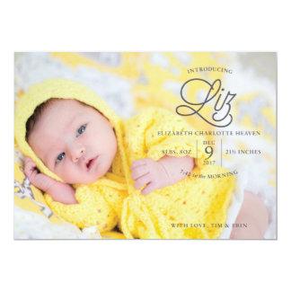 Liz-Himmels-Geburts-Mitteilung Karte