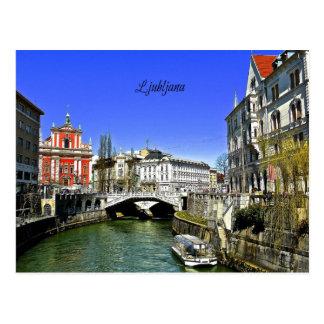 Ljubljana, Slowenien Postkarte