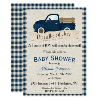 LKW-Babyparty-Einladung 12,7 X 17,8 Cm Einladungskarte