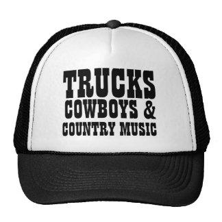 LKW-Cowboys und Countrymusik Trucker Mützen