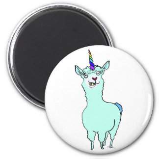 Llamacorn Runder Magnet 5,7 Cm