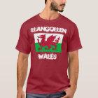Llangollen, Wales mit Waliser-Flagge T-Shirt