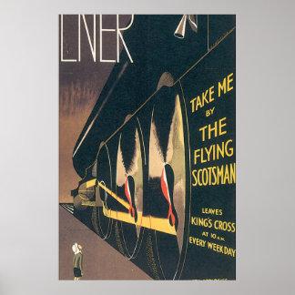 LNER das Fliegenscotsman-Vintage Reise-Plakat Poster