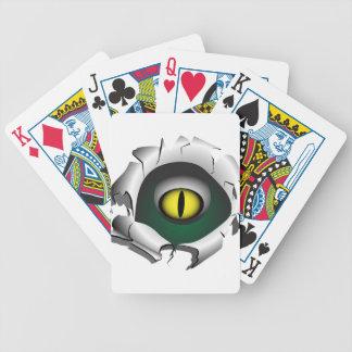 Loch, Bruch. Die Augen des Monsters Bicycle Spielkarten