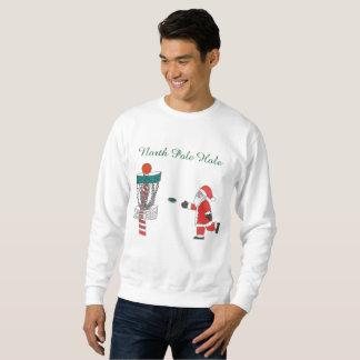 Loch-Disc-Golfsweatshirt Weihnachtsmanns Nordpol Sweatshirt