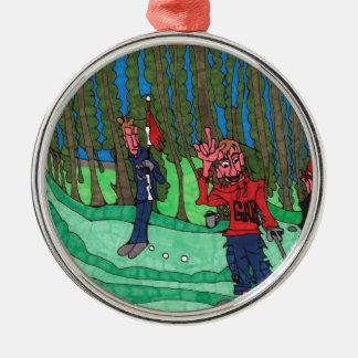 Loch in einem silbernes ornament