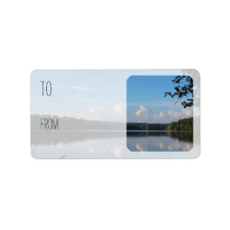 Loch-Raben-Reservoir Riverscape Geschenk Adressaufkleber