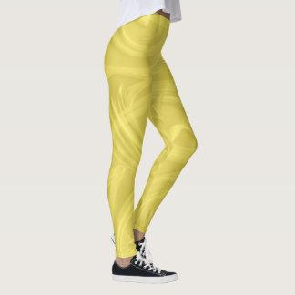 Locken über gelber Grafik Leggings