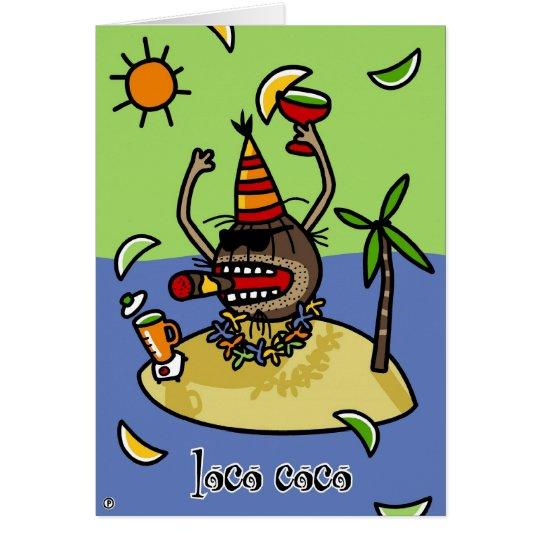 Loco-Cocos Grußkarte