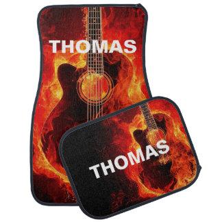 Lodernde Akustikgitarre personalisiert Automatte